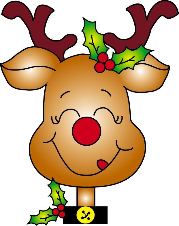 Free Christmas Download Cute - Cute Christmas Reindeer Clipart, HD Png  Download - kindpng
