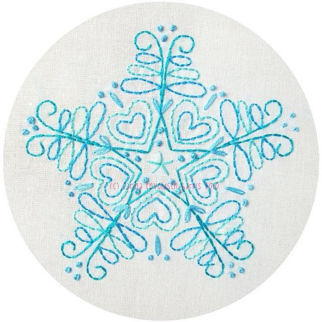 Blue snowflake #embroidery