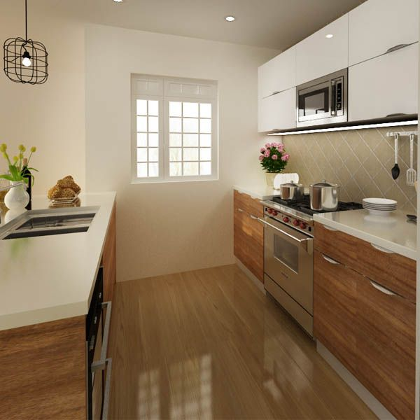 kitchen cabinets, PVC, brown, OP14-PVC05
