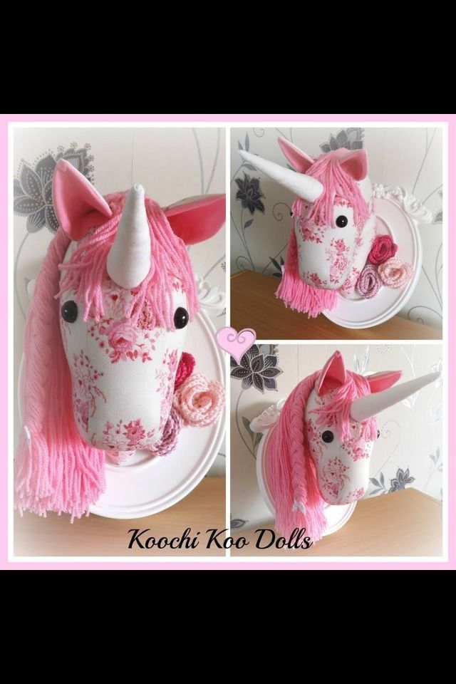 Details about Shabby Chic Wall Mounted Unicorn Head