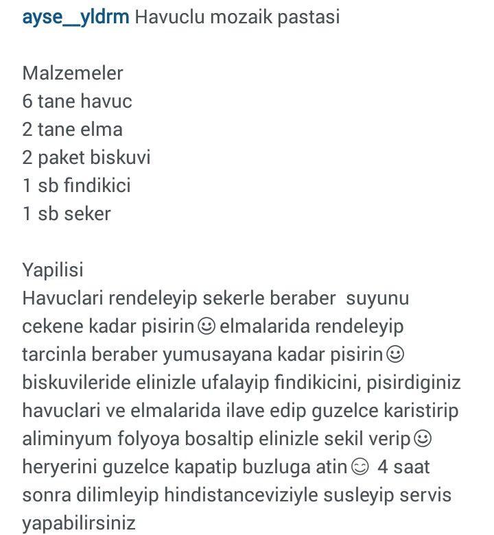 HAVUÇLU MOZAİK PASTA