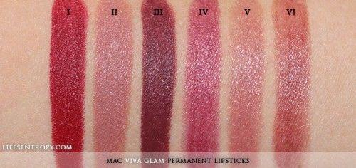mac viva glam permanent swatch