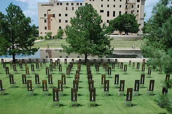 Oklahoma City, Oklahoma. (This is the memorial dedicated to the victims of the bombing of the Alfred P. Murrah Federal Building by Timothy McVeigh.)