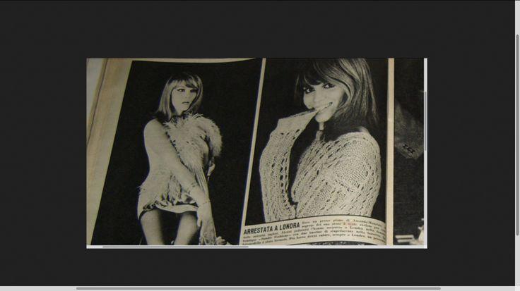 """OGGI n°26 du 29 juin 1967 : Arrestata a Londra """"Ecco un primo piano di Amanda Maurizio. Il segreto del suo sesso é stato svelato per --- dalla autorità inglese """" . La revue n'a pas oublié """"il travestito"""" (depuis Peki who)."""
