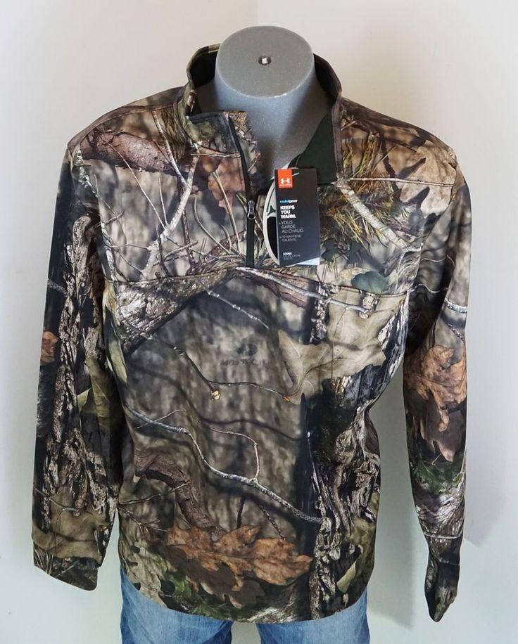 New $74.99 Under Armour Mossy Oak Hunting Gear 1/4 Zip Fleece Pullover 2XL Camo #Underarmour