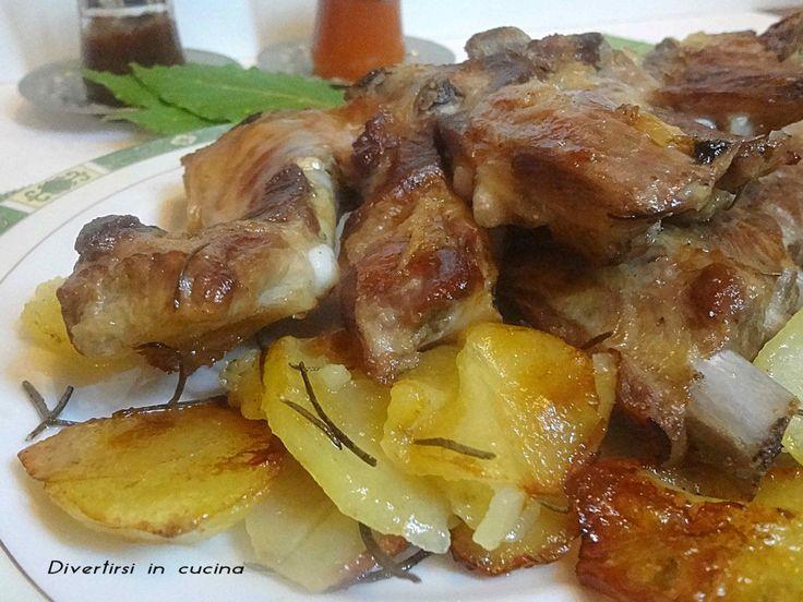 Ricetta costine di maiale al forno con patate Divertirsi in cucina