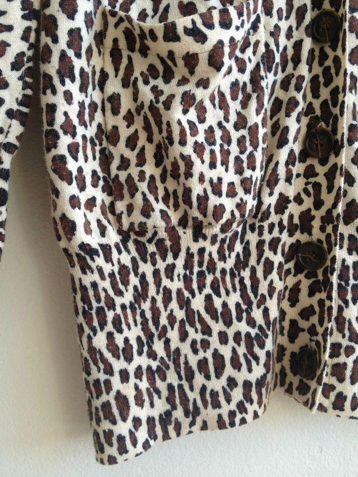 Ladies FCUK Wool Leopard Print Cardigan - Small  Now Selling! Click through to go to eBay auction.