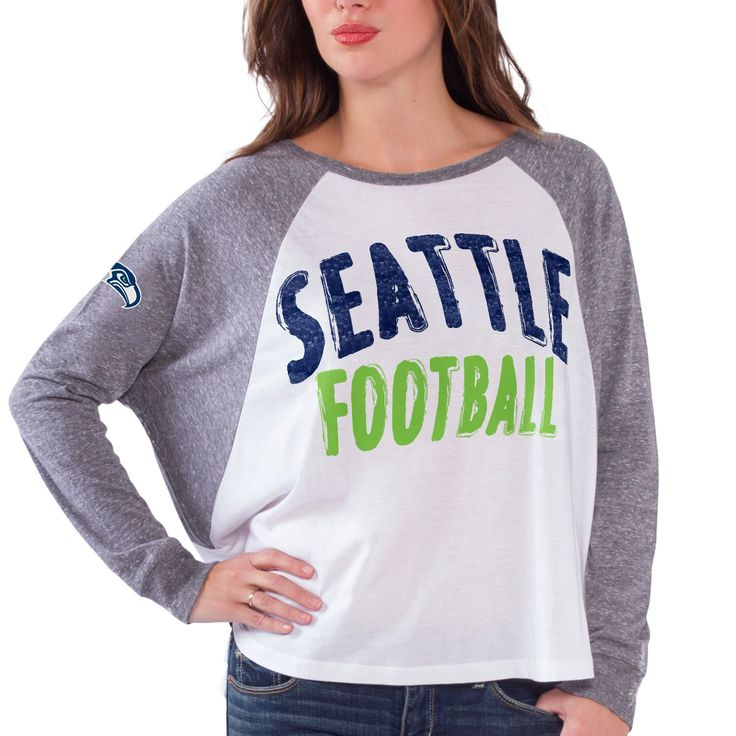 Women's White Seattle Seahawks Kickoff Long Sleeve T-Shirt