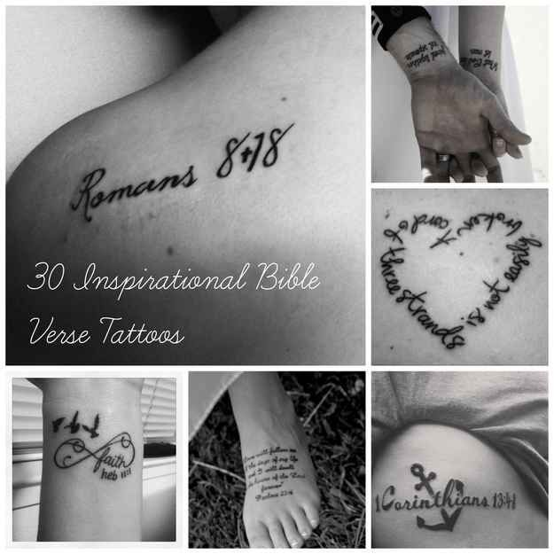 Community: 30 Inspirational Bible Verse Tattoos
