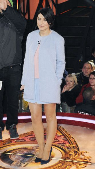 Emma Willis announces who is evicted from the Celebrity Big Brother house at Elstree Studios on January 22, 2014 in Borehamwood, England.