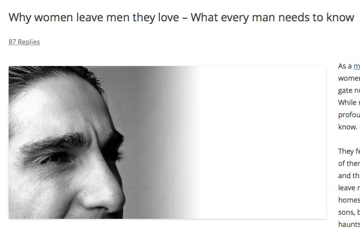 Why women leave men they love – What every man needs to know http://www.justiceschanfarber.com/marriage-why-women-leave-cheat/