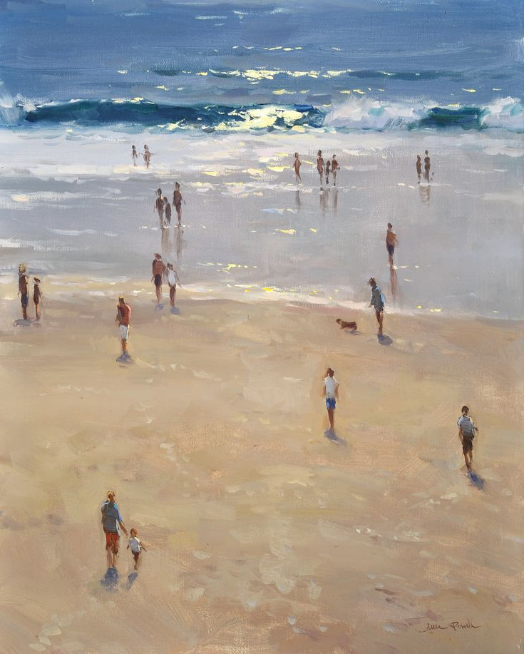 BoldBrush Painting Competition Winner - May 2010 | Carmel Beach by Jesse Powell