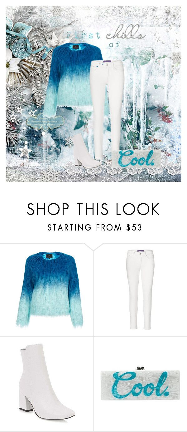 """""""January 2018"""" by shamrockclover ❤ liked on Polyvore featuring Unreal Fur, Ralph Lauren Collection and Edie Parker"""