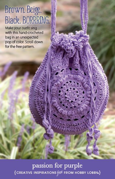 Passion For Purple Bag - Free Crochet Pattern - (hobbylobby)
