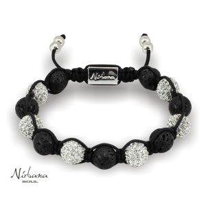 Lavasten og sølv armbånd til mænd, Model Marbella Silver Det er så flot