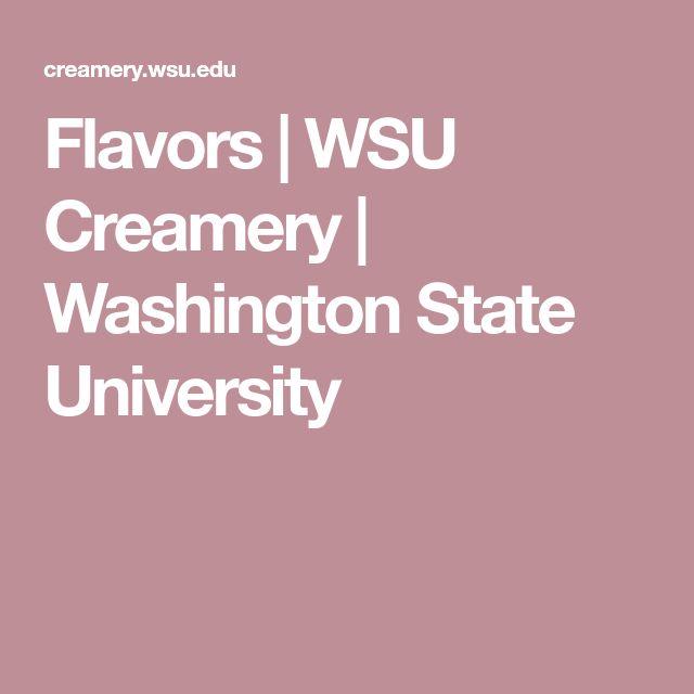 Flavors | WSU Creamery | Washington State University