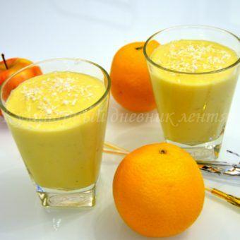 Апельсиновый смузи с манго