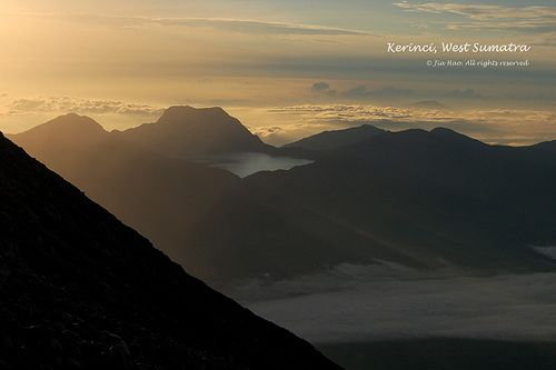 Danau Gunung Tujuh, seen from Mt. Kerinci. Photo by Jia Hao on Flickr