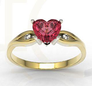 Pierścionek z żółtego złota z topazem i diamentami / Ring made from yellow gold with topaz and diamonds/ 1 170 PLN #engagament #jewellery #ring