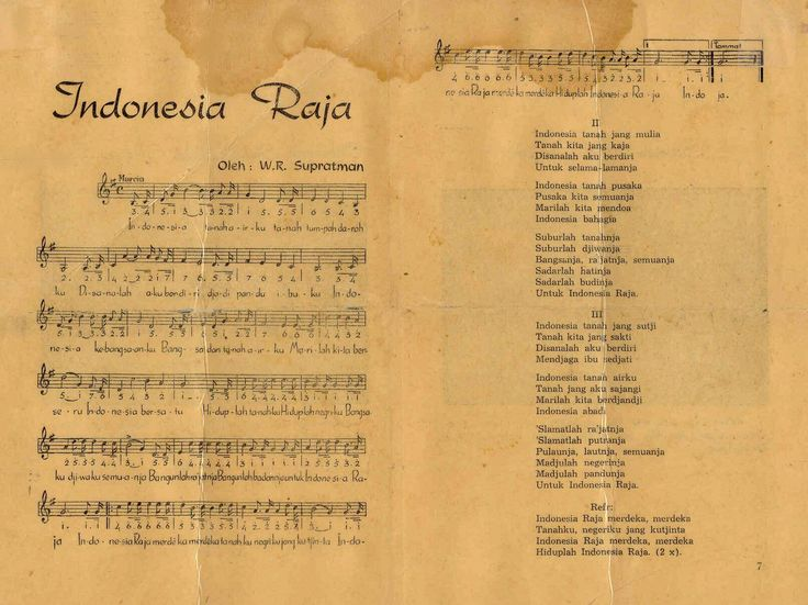 """Indonesia Raya"" is the national anthem of the Republic of Indonesia. The song was introduced by its composer, Wage Rudolf Supratman, on 28 October 1928 during the Second Indonesian Youth Congress in Batavia. ""Indonesia Raya"" is played in flag raising ceremonies.  The main flag raising ceremony is held annually on 17 August to commemorate Independence day and led by the President of Indonesia."