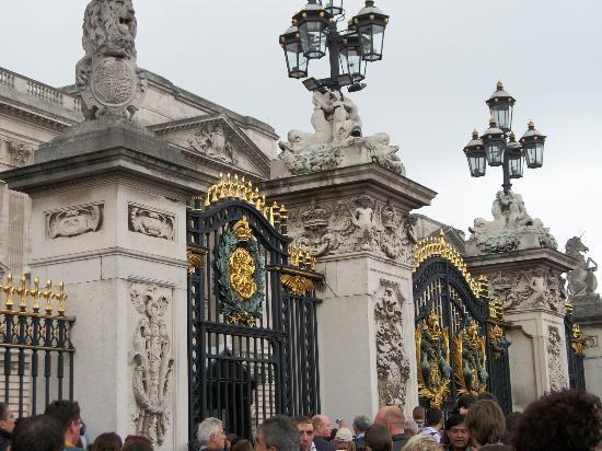 Buckingham Palace: Portões do Palácio de Buckingham, Londres, Inglaterra