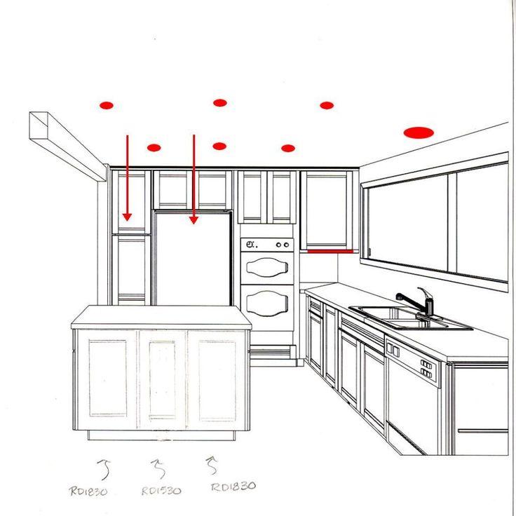 Kitchen Recessed Lighting Design: Recessed Lighting Kitchen Layout - Google Search