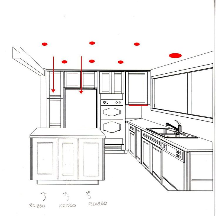 Recessed Lighting Kitchen Layout - Google Search