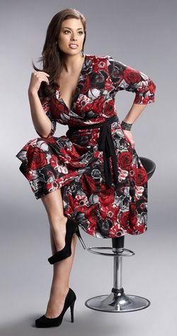 Legacy Wrap Dress - Plus Size Clothing Canada