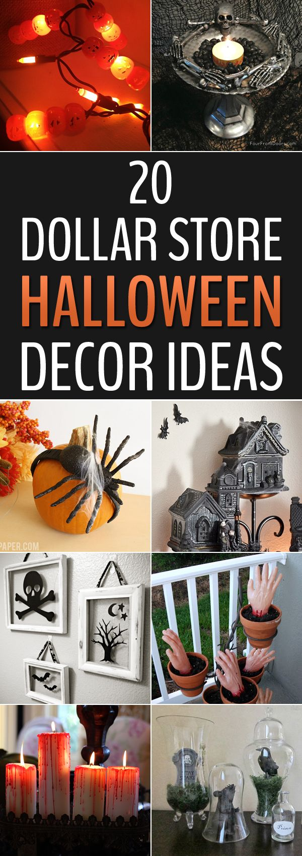 the best diy halloween decor ideas using cheap supplies from the dollar store - Cheap Halloween Party Decorations