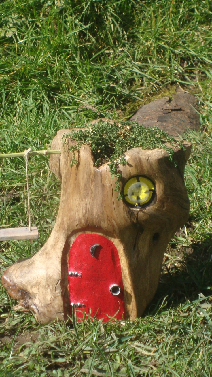 111 best fantasy gardens fairy container gardens images for Upcycled tree stumps