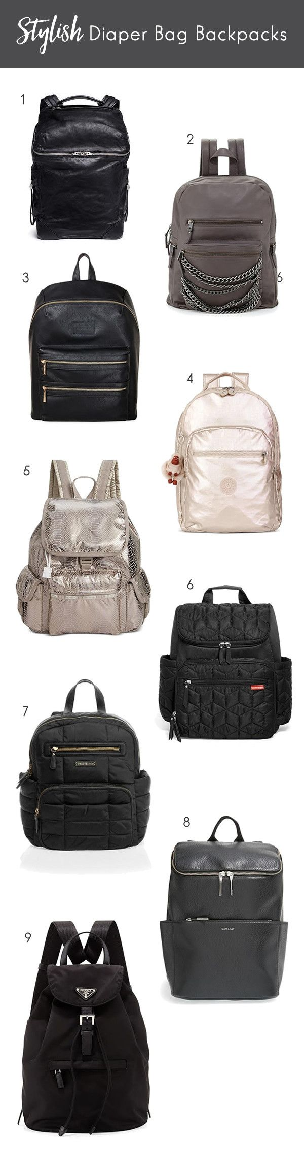 Arent these so cute?! Stylish Backpack Diaper Bags, the alternative to the traditional diaper bag | Read more at blog.cuteheads.com
