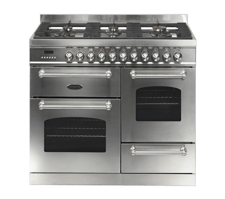 britannia fleet 100 xg 6 dual fuel burners stainless steel range cooker