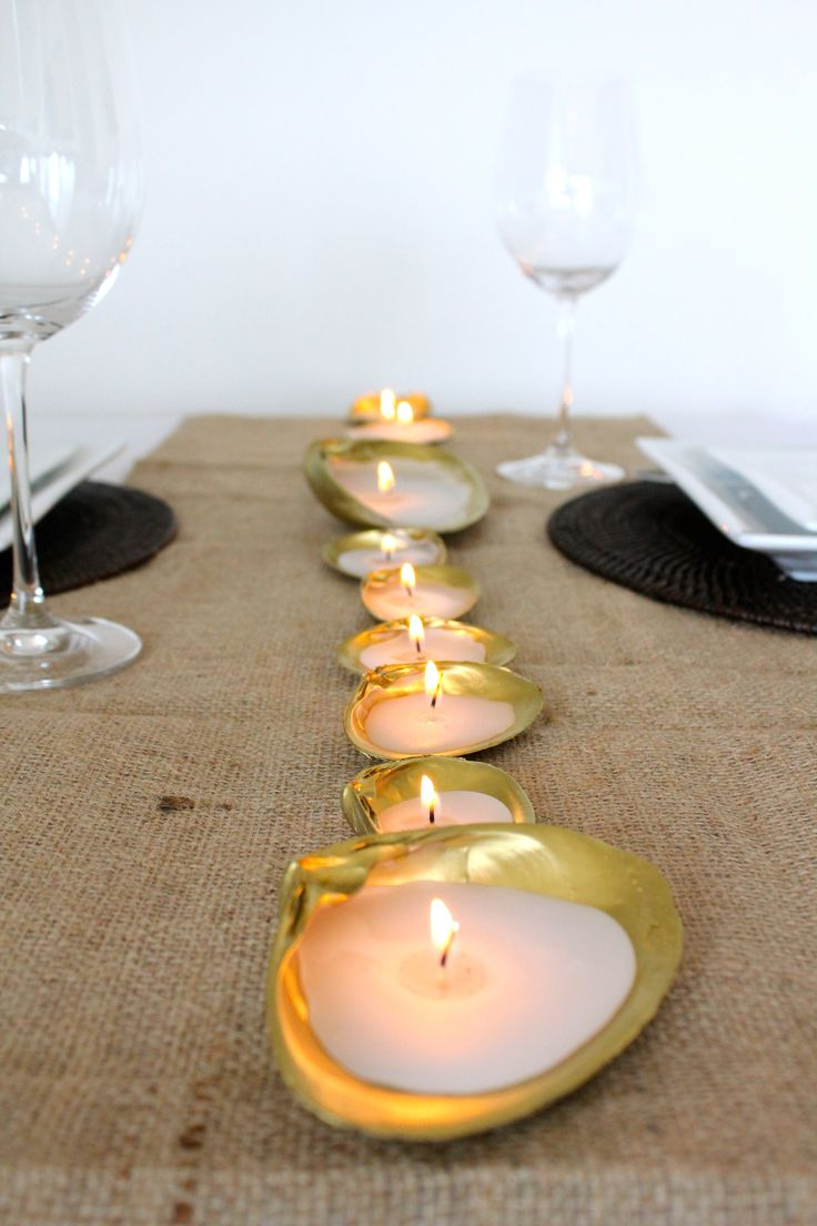 #DIY shell candles.  How cute and easy.  Think of all the color choices or keep them natural.