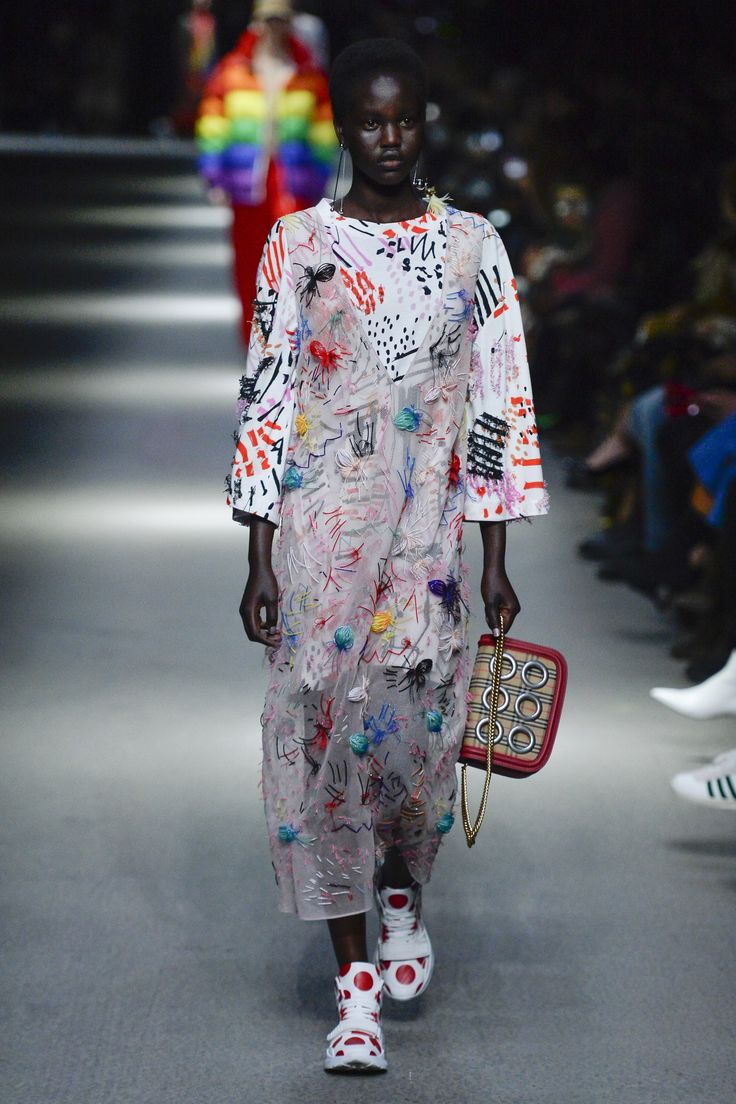This rainbow-filled, market-stall inspired collection focuses on the re-birth of the Burberry brand.