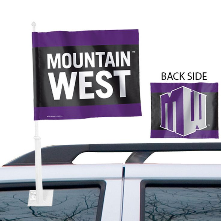 Mountain West Conference 11.5'' x 13'' Tier Two-Sided Car Flag