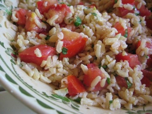 Brown Rice Tomato Basil Salad Recipe Barefoot Contessa