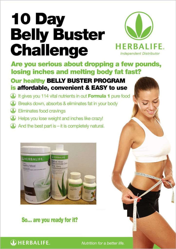 The 10 Day Herbalife Belly Buster Challenge Belly Busters Herbalife Herbalife Nutrition Club