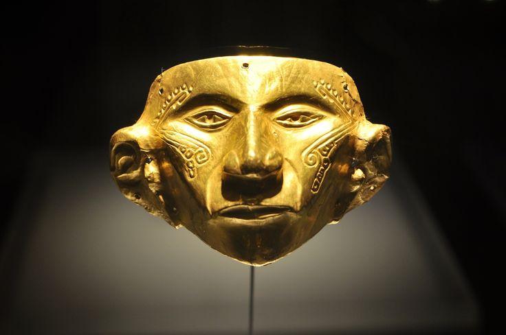 Masque, musée de l'or à Bogota, Monserrate, Bogotá, Bogota, Colombie
