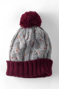 Kids Donegal Cable Knit Hat from Lands End
