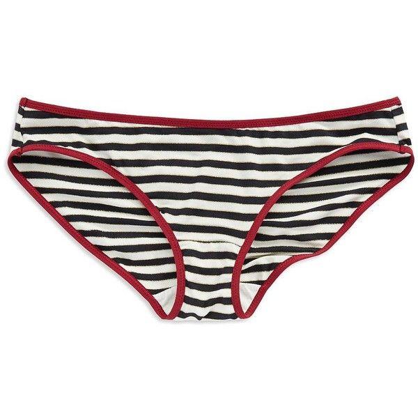 Splendid Striped Bikini Panties (8.58 AUD) ❤ liked on Polyvore featuring intimates, panties, striped bikini, bikini panties, striped panties, panty bikini and bikini panty