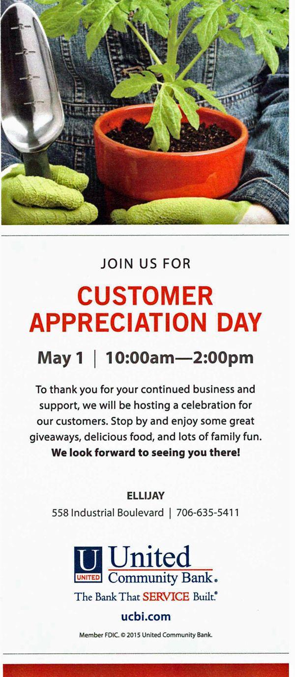 United Community Bank to Hold Customer Appreciation Day | Gilmer