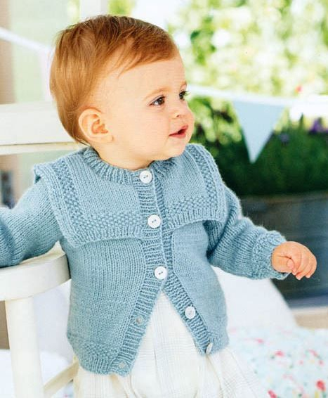 Knitting Pattern for Baby Cardigan with Sailor Collar - #ad One of 33 patterns in Baby Book 7 by King Cole. More pics at Deramore's tba