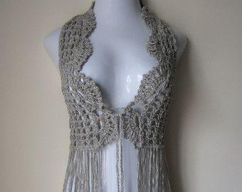 Hippie+Crochet+Vest+Pattern | Crochet vest, FESTIVAL VEST, Fringe vest, Elongated Fringes, festival ...