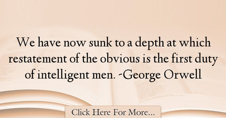George Orwell Quotes About intelligence - 38279