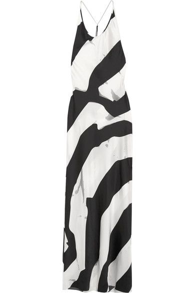 Ann Demeulemeester - Beaded Printed Silk-blend Maxi Dress - White - FR36
