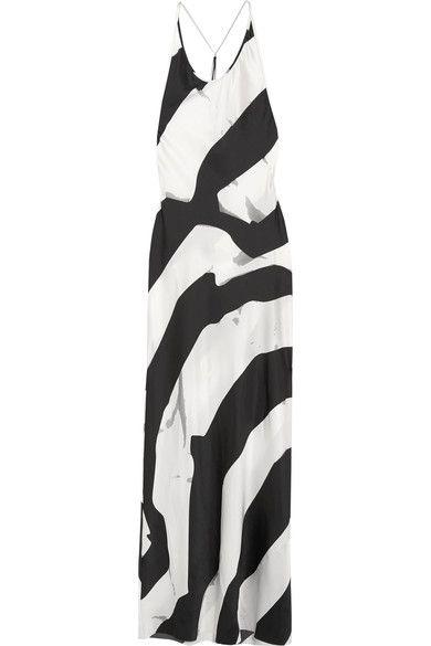 Ann Demeulemeester - Beaded Printed Silk-blend Maxi Dress - White - FR36