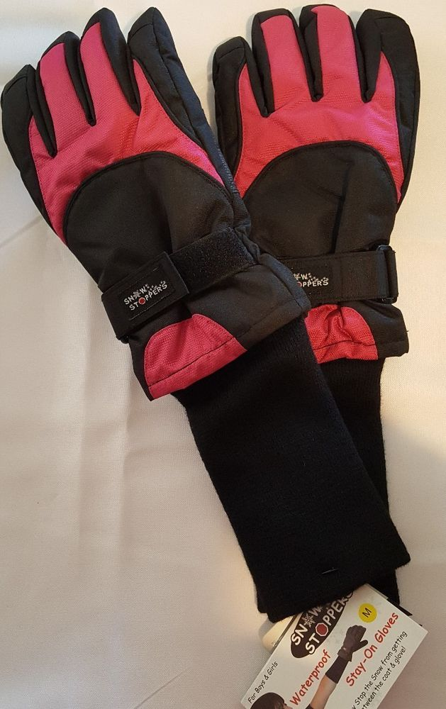 Snow Stoppers Extra Long Cuff Winter Gloves for Kids