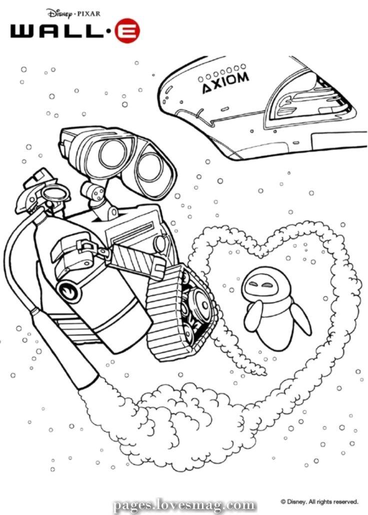 3 Wall E E Eve In Space Coloring Page Risunki Dlya Detej Roboty