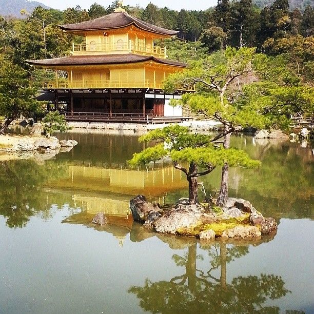 "Kinkaku-ji, the ""Temple of the Golden Pavilion"" in Kyoto, #Japan. Photo courtesy of xsnapshots888 on Instagram."