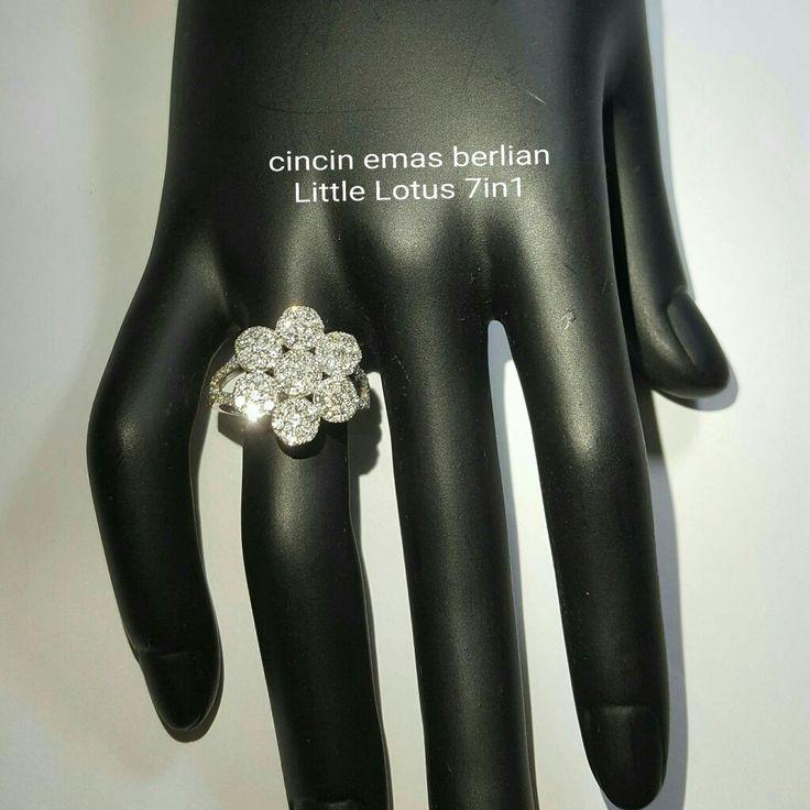 New Arrival🗼. Cincin Emas Berlian Little Lotus 7in1 (Flower Style)💎💍.   🏪Toko Perhiasan Emas Berlian-Ammad 📲+6282113309088/5C50359F Cp.Antrika👩.  https://m.facebook.com/home.php #investasi#diomond#gold#beauty#fashion#elegant#musthave#tokoperhiasanemasberlian